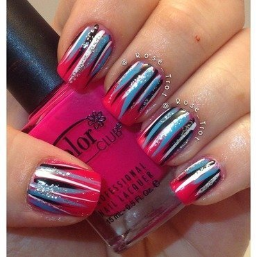 Waterfall mani nail art by Rose_Trot