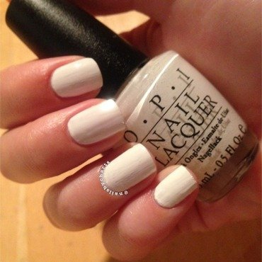 OPI Alpine Snow Swatch by Claudia