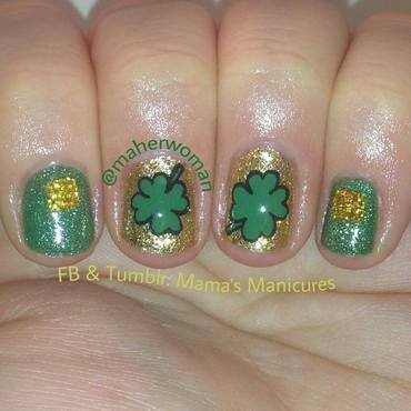St. Patrick's Day Mani nail art by Mama's Manicures (maherwoman)
