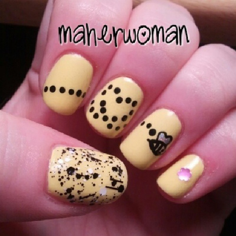 Bumblebee nails nail art by mamas manicures maherwoman bumblebee nails nail art by mamas manicures maherwoman prinsesfo Image collections