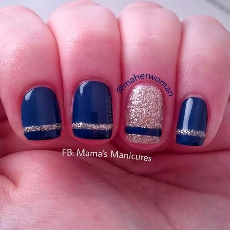 Simple Stripe Nails Nail Art By Mamas Manicures Maherwoman