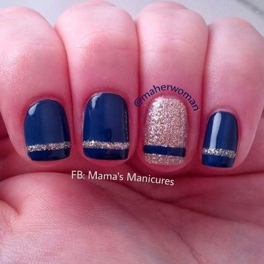 Simple Stripe Nails nail art by Mama's Manicures (maherwoman)