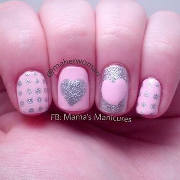 Valentine's Day Nails nail art by Mama's Manicures (maherwoman)