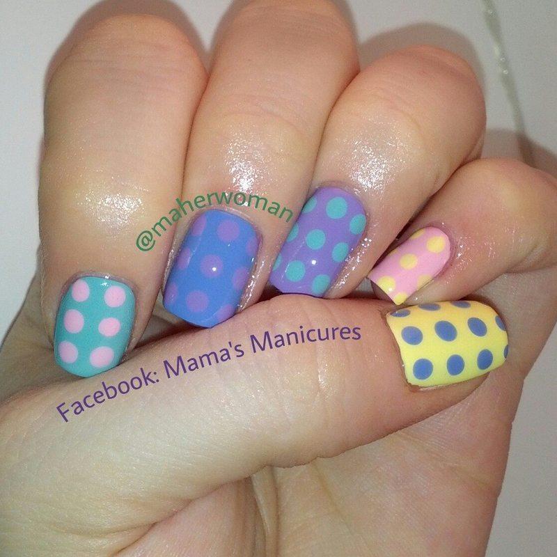 Polka Dots! nail art by Mama's Manicures (maherwoman)