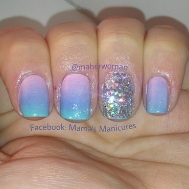 Gradient with a Little Sparkle nail art by Mama's Manicures (maherwoman)