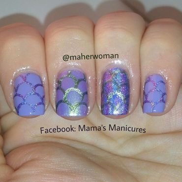 Fish Scales nail art by Mama's Manicures (maherwoman)