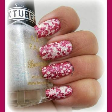 cherry blossem nail art by Uma mathur