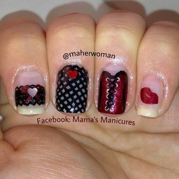 Naughty Valentine's Nails nail art by Mama's Manicures (maherwoman)