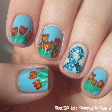 World Parkinson´s Day Manicure nail art by Maria