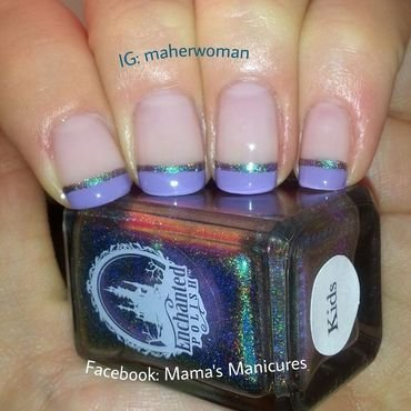 French Manicure with a Twist nail art by Mama's Manicures (maherwoman)