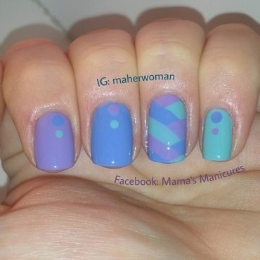 Fishtail Braid nail art by Mama's Manicures (maherwoman)