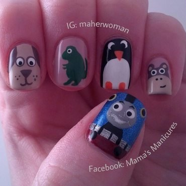 Birthday nails for my son nail art by Mama's Manicures (maherwoman)