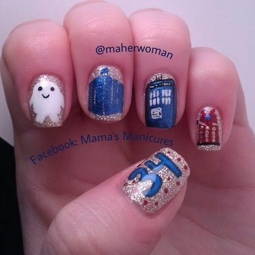 Doctor Who Nails nail art by Mama's Manicures (maherwoman)
