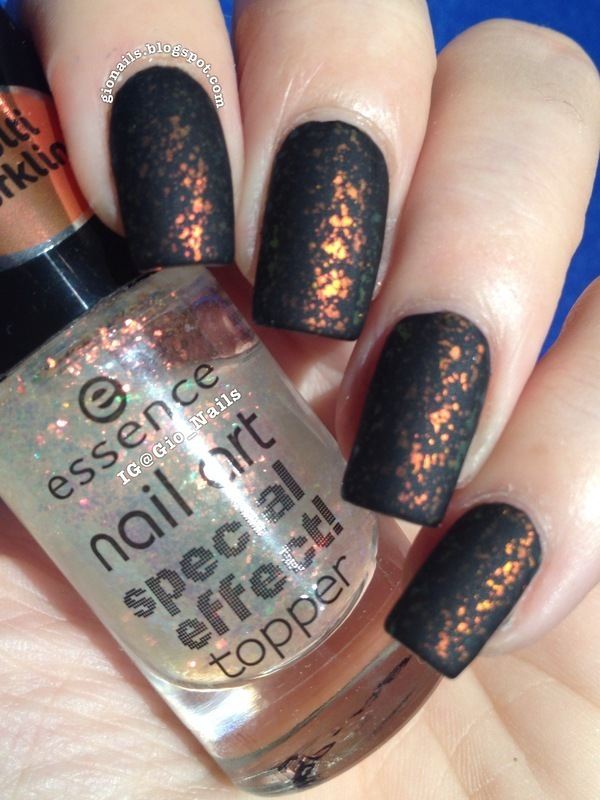 OPI Matte Top Coat and Essence Colour&Go Night In Vegas! Swatch by ...