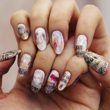 Money is the anthem nail art by Michelle