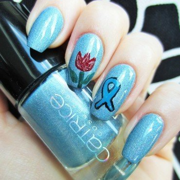 World parkinson`s day nail art by Jane