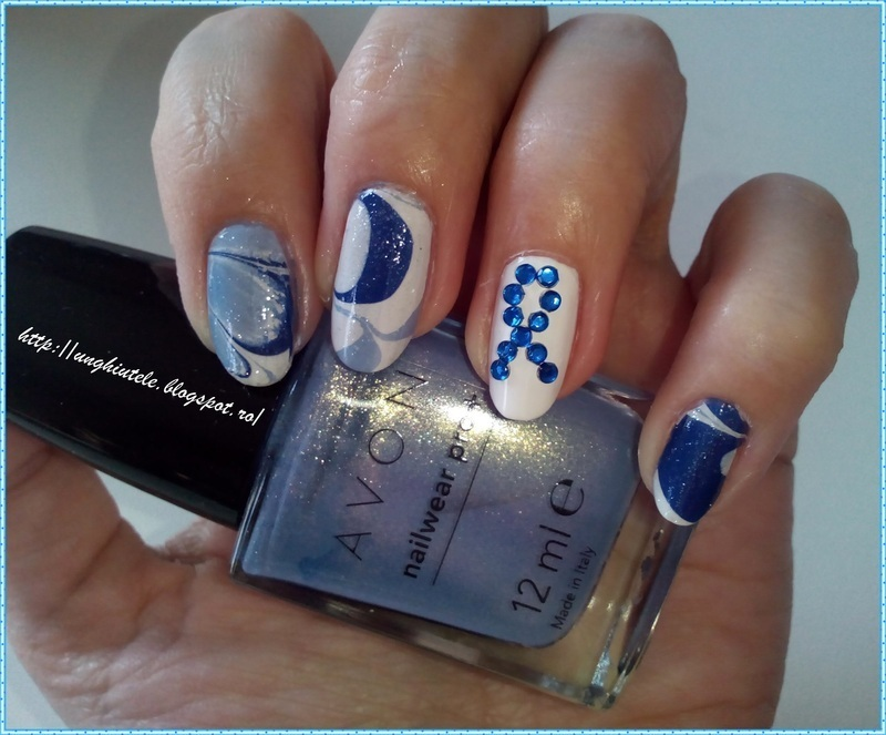 Support Parkinson's day with my blue ribbon nail art by Oana  Alexandru