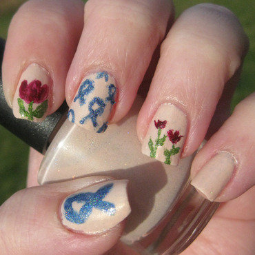 World Parkinson's Day nail art by Andi