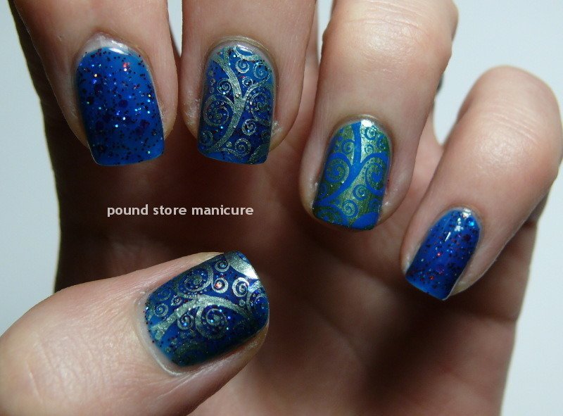 Cheap and Cheerful nail art by Pound Store Manicure