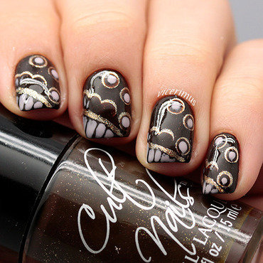 Inspired by Fashion nail art by Yulia