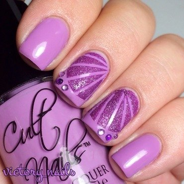 LUPUS awareness -purple butterfly nail art by Nicole