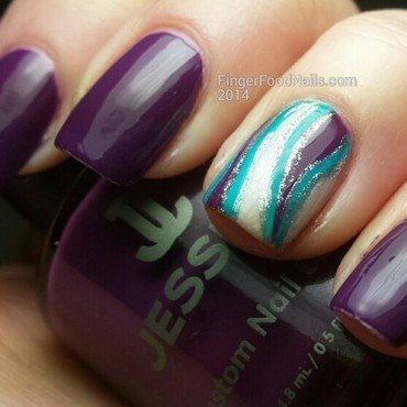 Abstract Accent nail art by Sam
