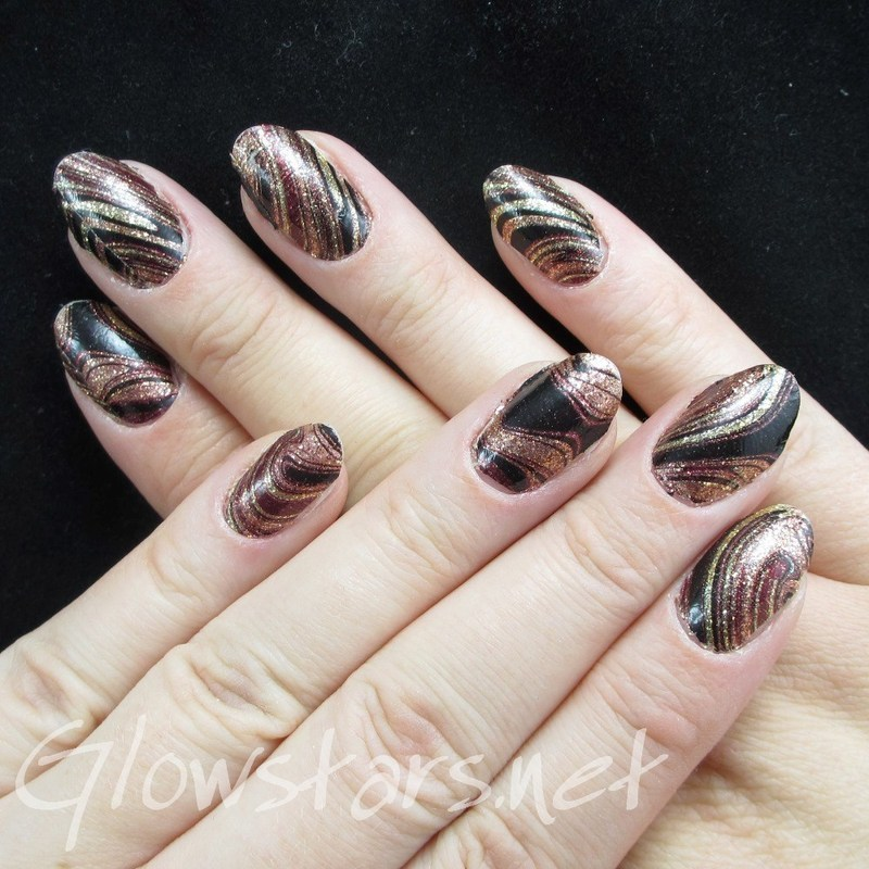 Featuring Incoco Nail Polish Strips: Total Bombshell nail art by Vic 'Glowstars' Pires