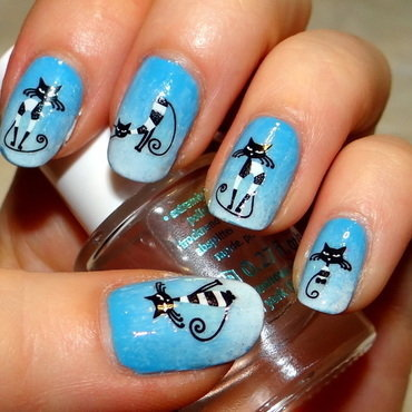Cats nails nail art by Km.Lucy