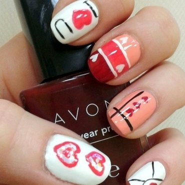 In love nail art by Km.Lucy