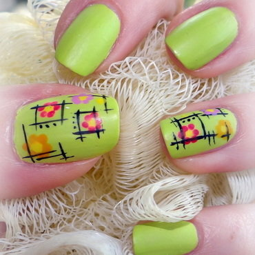 Spring garden nail art by Km.Lucy