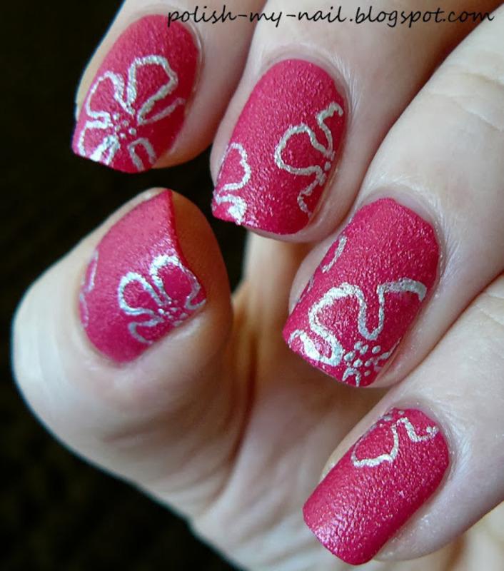 Pink sand nail art by Ewlyn - Nailpolis: Museum of Nail Art