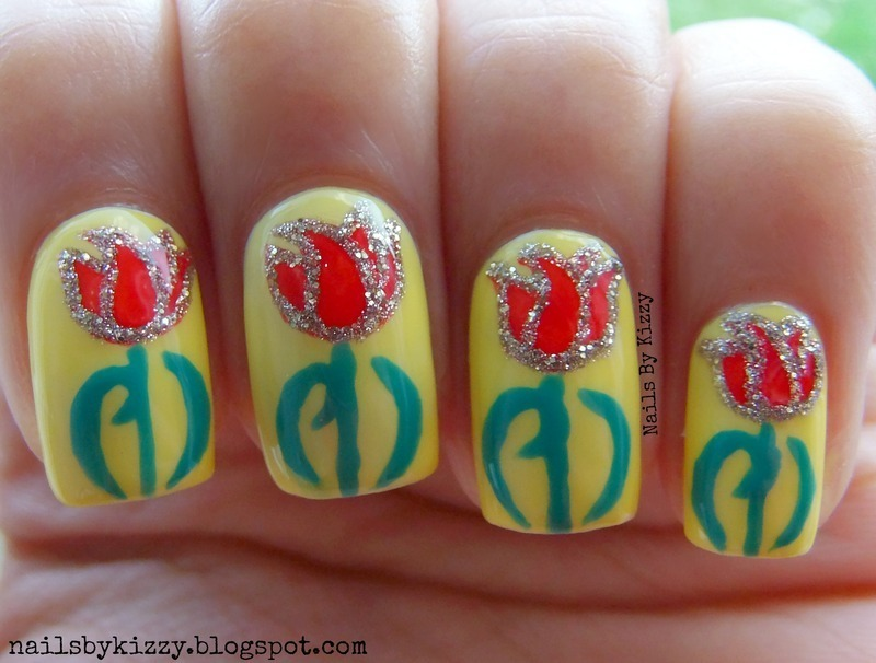 World Parkinson's Day nail art by Kizzy