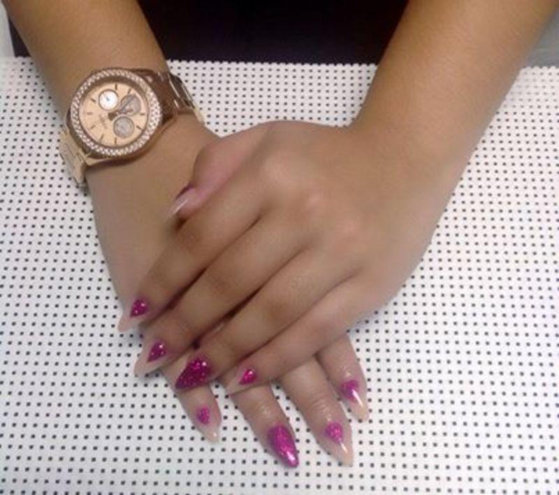 young n bossin nail art by Vanessa Nesbitt