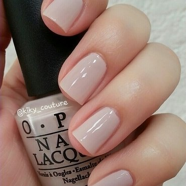 OPI don't bossa nova me around Swatch by Ximena Echenique