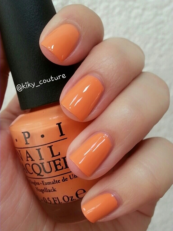 OPI where did suzi's man-go? Swatch by Ximena Echenique