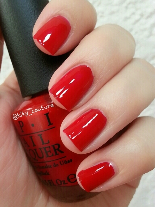 Opi Red Hot Rio Swatch By Ximena Echenique Nailpolis