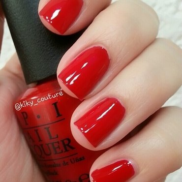 OPI red hot rio Swatch by Ximena Echenique
