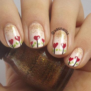 Lovely Morning nail art by  Vanesa