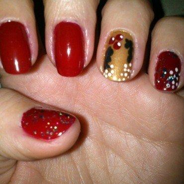 Campanas de navidad nail art by Diana elpotilugar