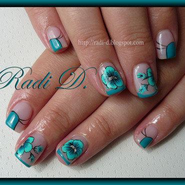 Turquoise...again nail art by Radi Dimitrova