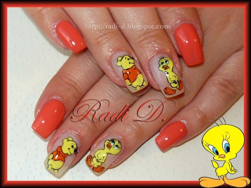 Tweety And Pooh Nail Art By Radi Dimitrova Nailpolis Museum Of