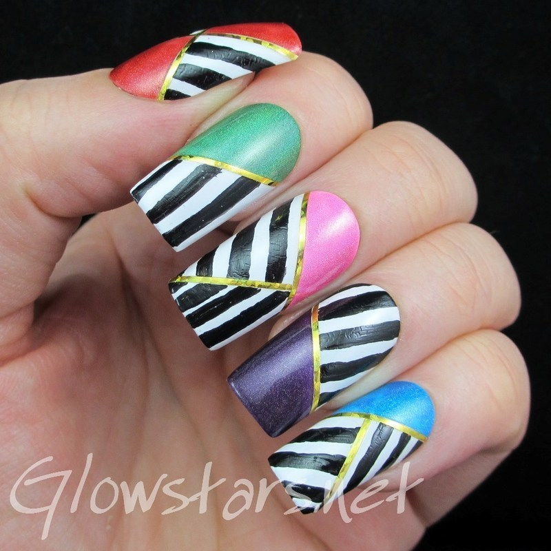 I break into the park with the insects nail art by Vic 'Glowstars' Pires