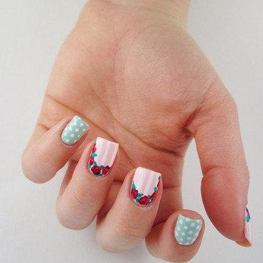 Nail art roses nail art by Restons polish