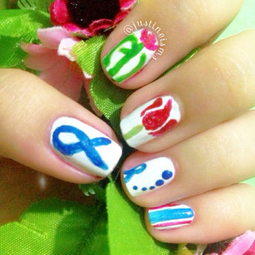 World Parkinson's Day Nail Art nail art by ℐustine