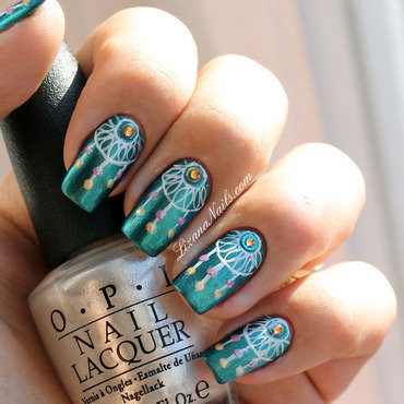 Dreamcatcher nail art by Lizana Nails