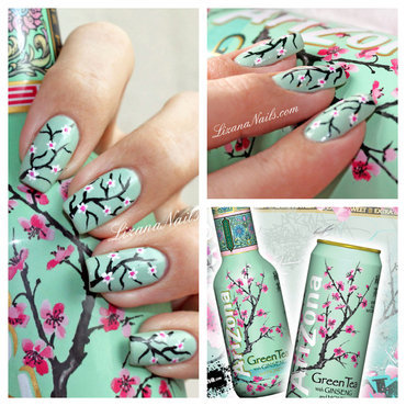 Cerisier nail art by Lizana Nails