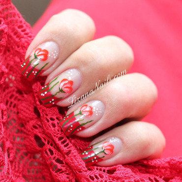 60   nail art coquelicots thumb370f
