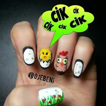 cik cik nail art by ojebeni