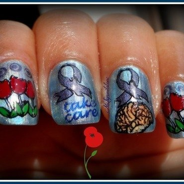 Love you papa nail art by Nicky