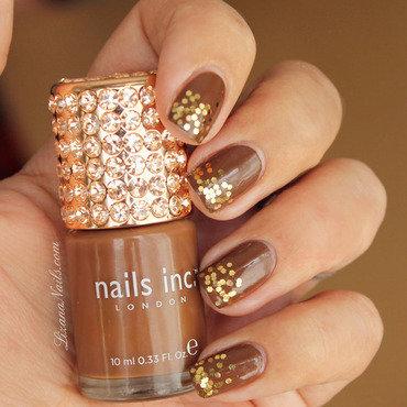 Chocolat nail art by Lizana Nails